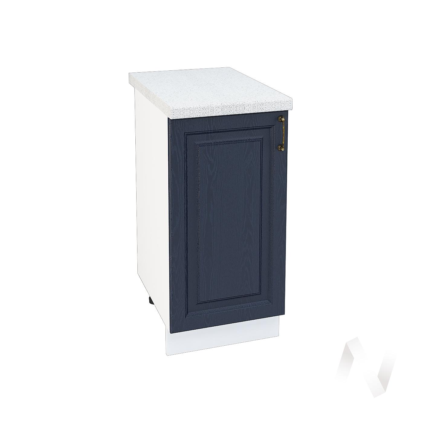 """Кухня """"Ницца"""": Шкаф нижний 400, ШН 400 (Дуб чернильный/корпус белый)"""