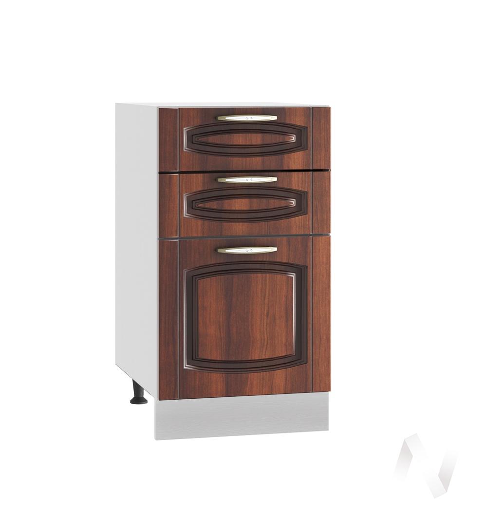 """Кухня """"Неаполь"""": Шкаф нижний с 3-мя ящиками 400, ШН3Я 400 (Италия/корпус белый)"""