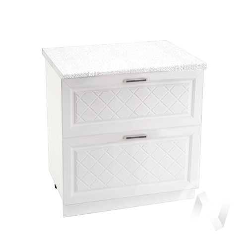 "Кухня ""Вена"": Шкаф нижний с 2-мя ящиками 800, ШН2Я 800 (корпус белый)"