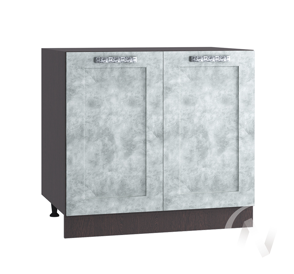 "Кухня ""Лофт"": Шкаф нижний 800, ШН 800 (Бетон серый/корпус венге)"