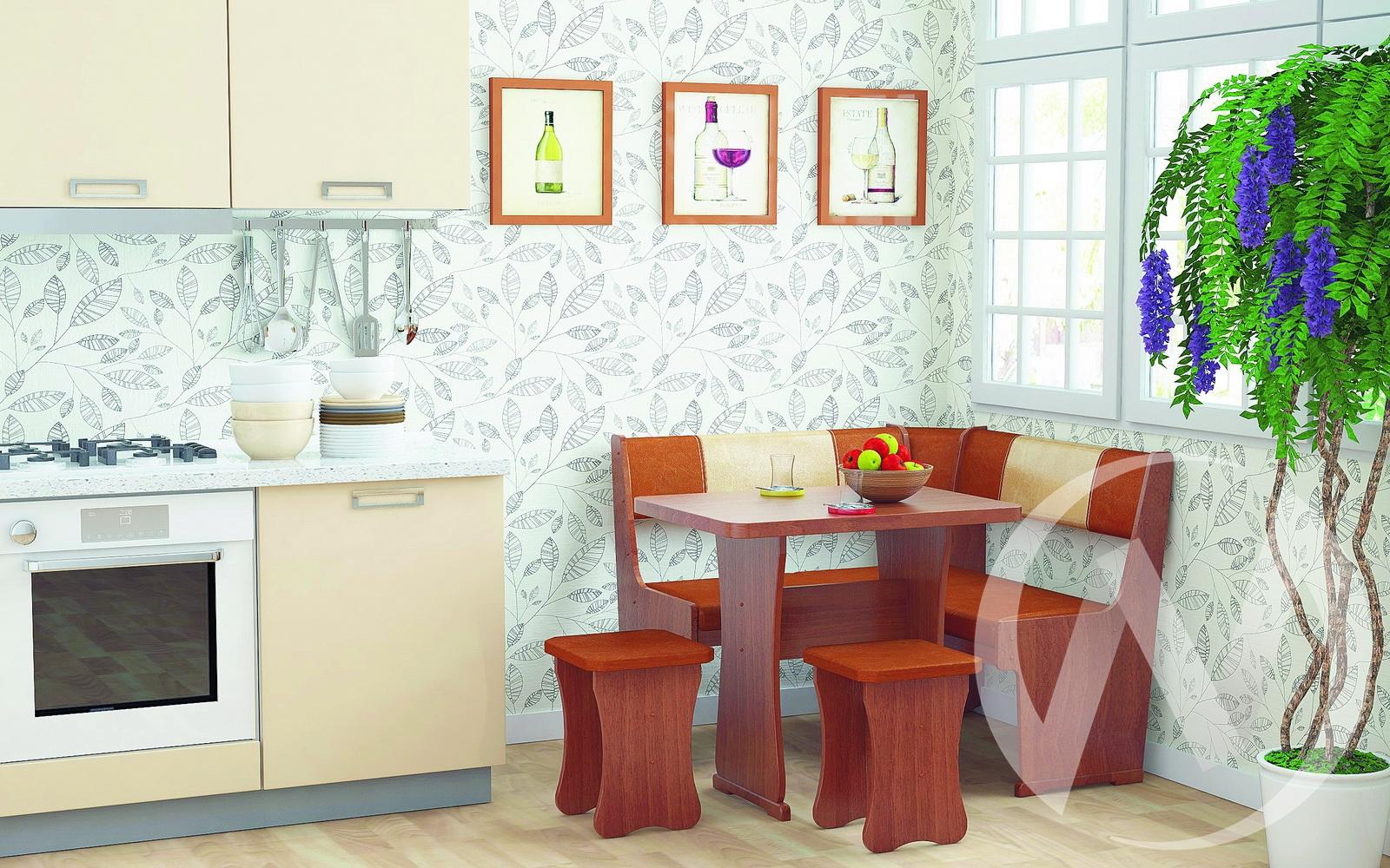 Кухонный уголок Гамма мини тип 1 (ольха/рыжий,бежевый)