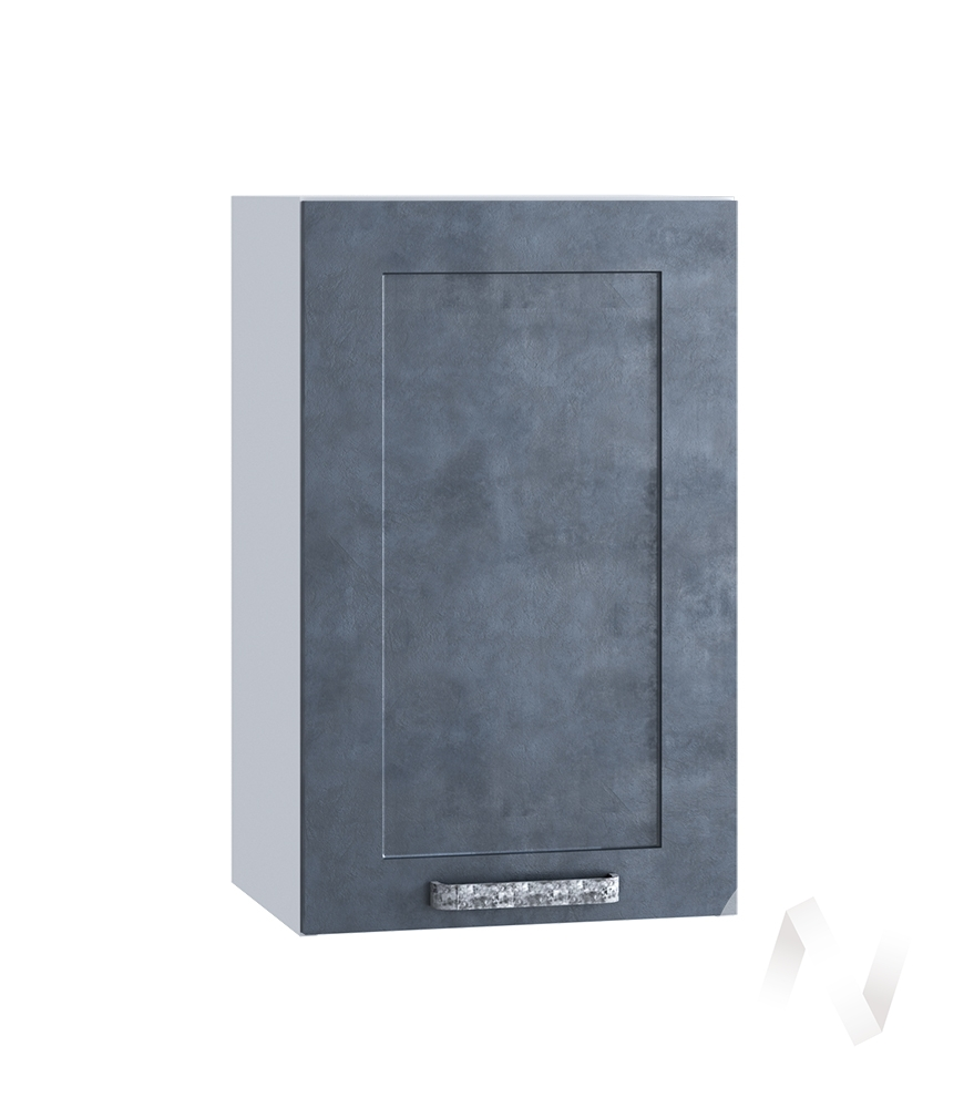 "Кухня ""Лофт"": Шкаф верхний 400, ШВ 400 (Бетон графит/корпус белый)"
