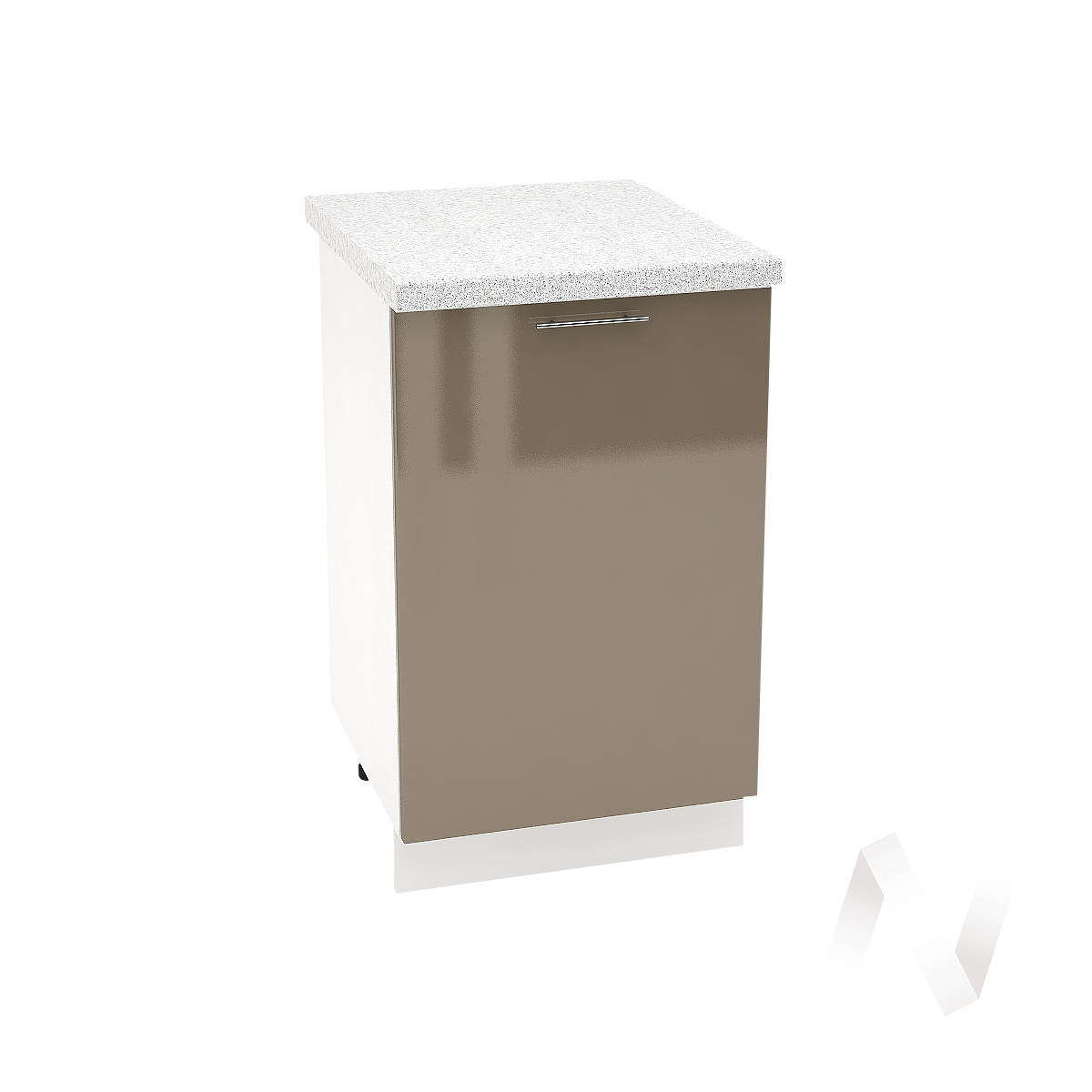 "Кухня ""Валерия-М"": Шкаф нижний 500, ШН 500 (Капучино глянец/корпус белый)"