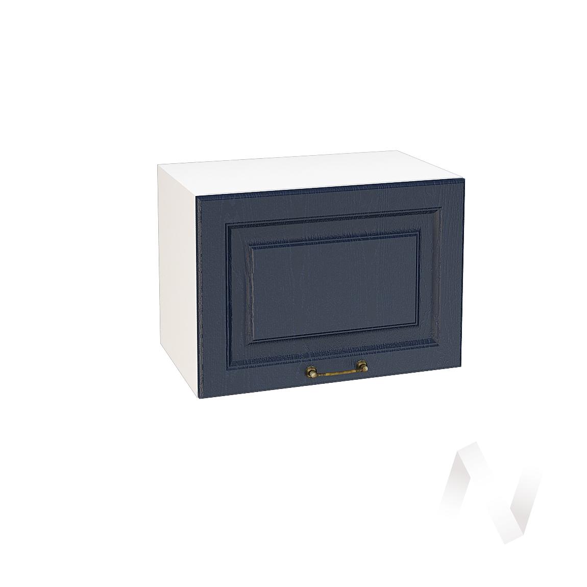"""Кухня """"Ницца"""": Шкаф верхний горизонтальный 500, ШВГ 500 (Дуб чернильный/корпус белый)"""