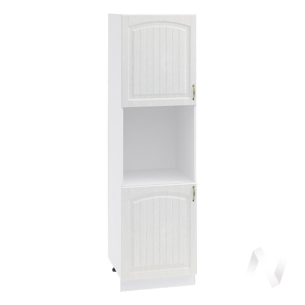 """Кухня """"Верона"""": Шкаф пенал 600 левый, ШП 600 (ясень золотистый/корпус белый)"""