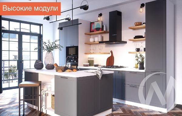 """Кухня """"Глетчер"""" (Маренго силк/корпус белый)"""