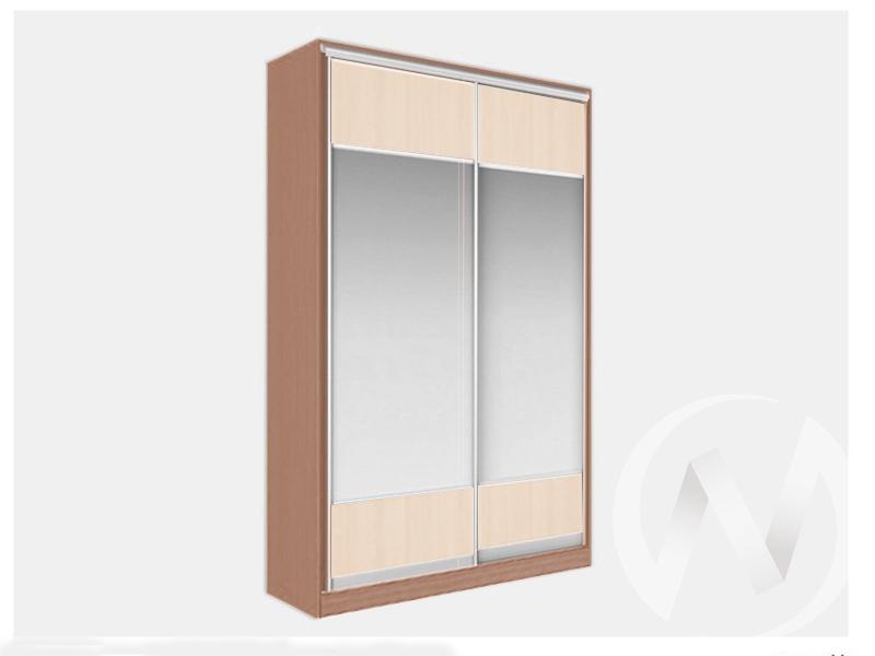 Шкаф-купе «Джонни» 2-х дверный Витрина (ясень шимо темный/дуб сонома.)  в Томске — интернет магазин МИРА-мебель