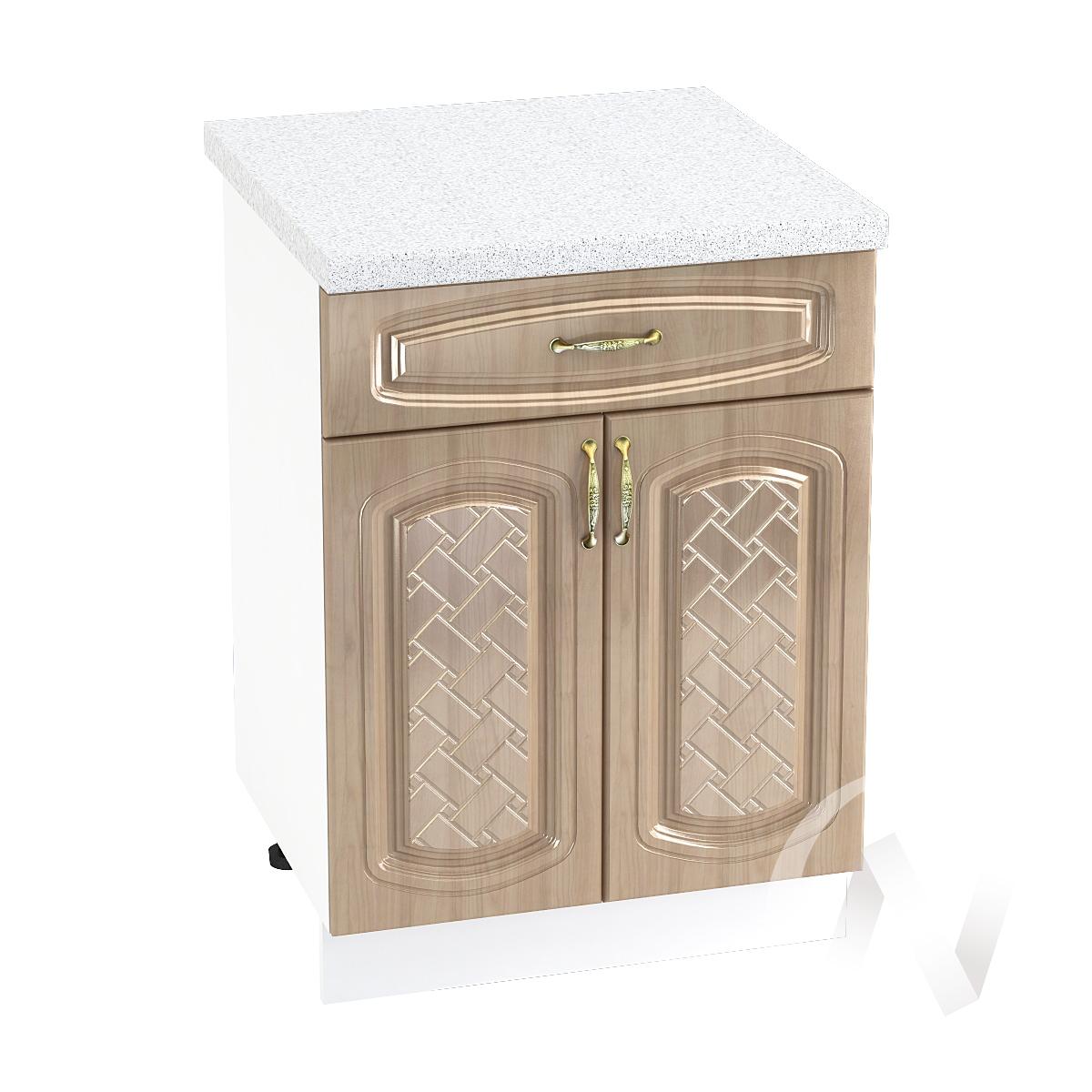 "Кухня ""Сити"": Шкаф нижний с ящиком 600, ШН1Я 600 М (корпус белый)"