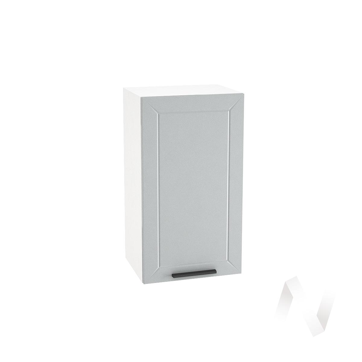 """Кухня """"Глетчер"""": Шкаф верхний 400, ШВ 400 (Гейнсборо Силк/корпус белый)"""