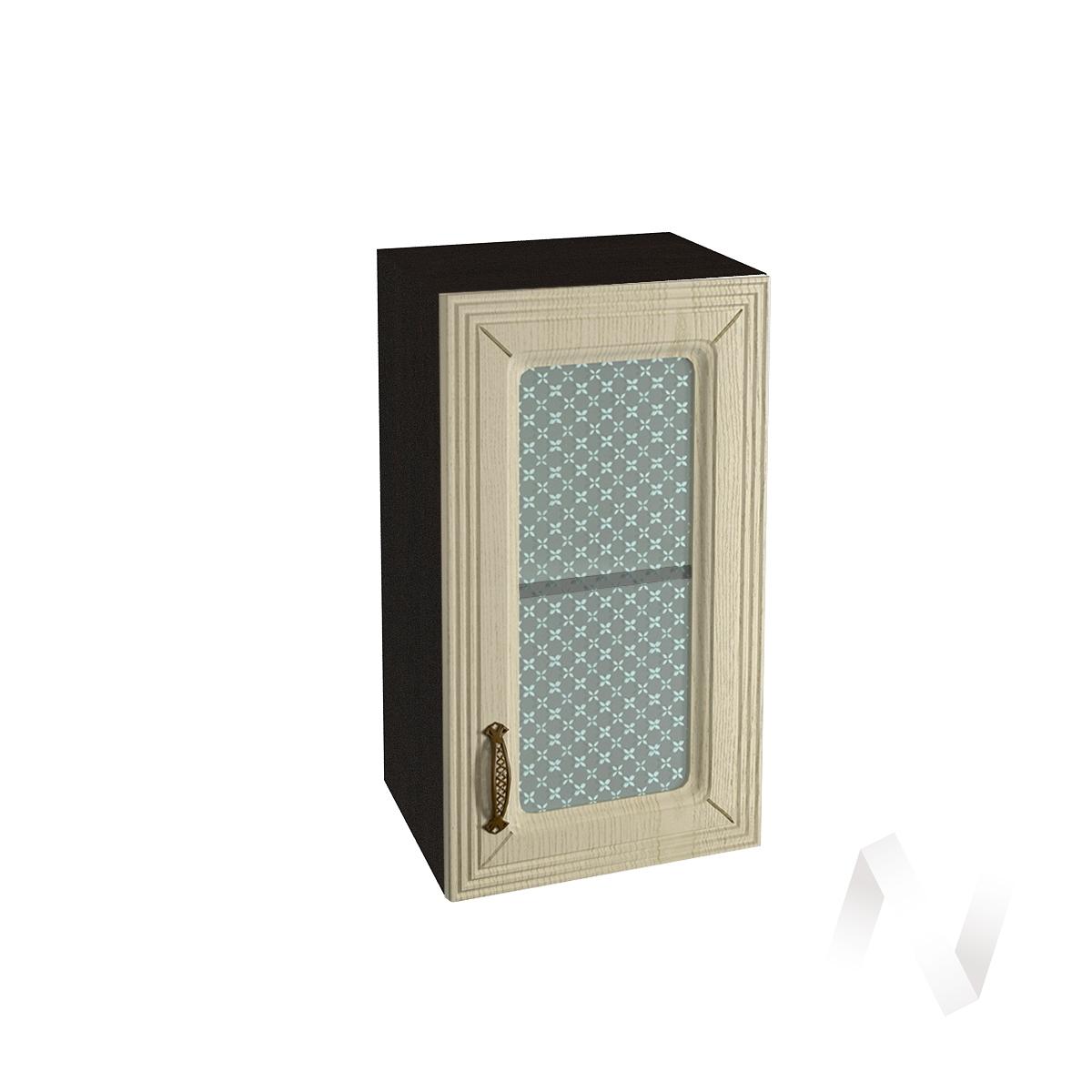 """Кухня """"Изабель"""": Шкаф верхний со стеклом 400, ШВС 400 (корпус венге)"""