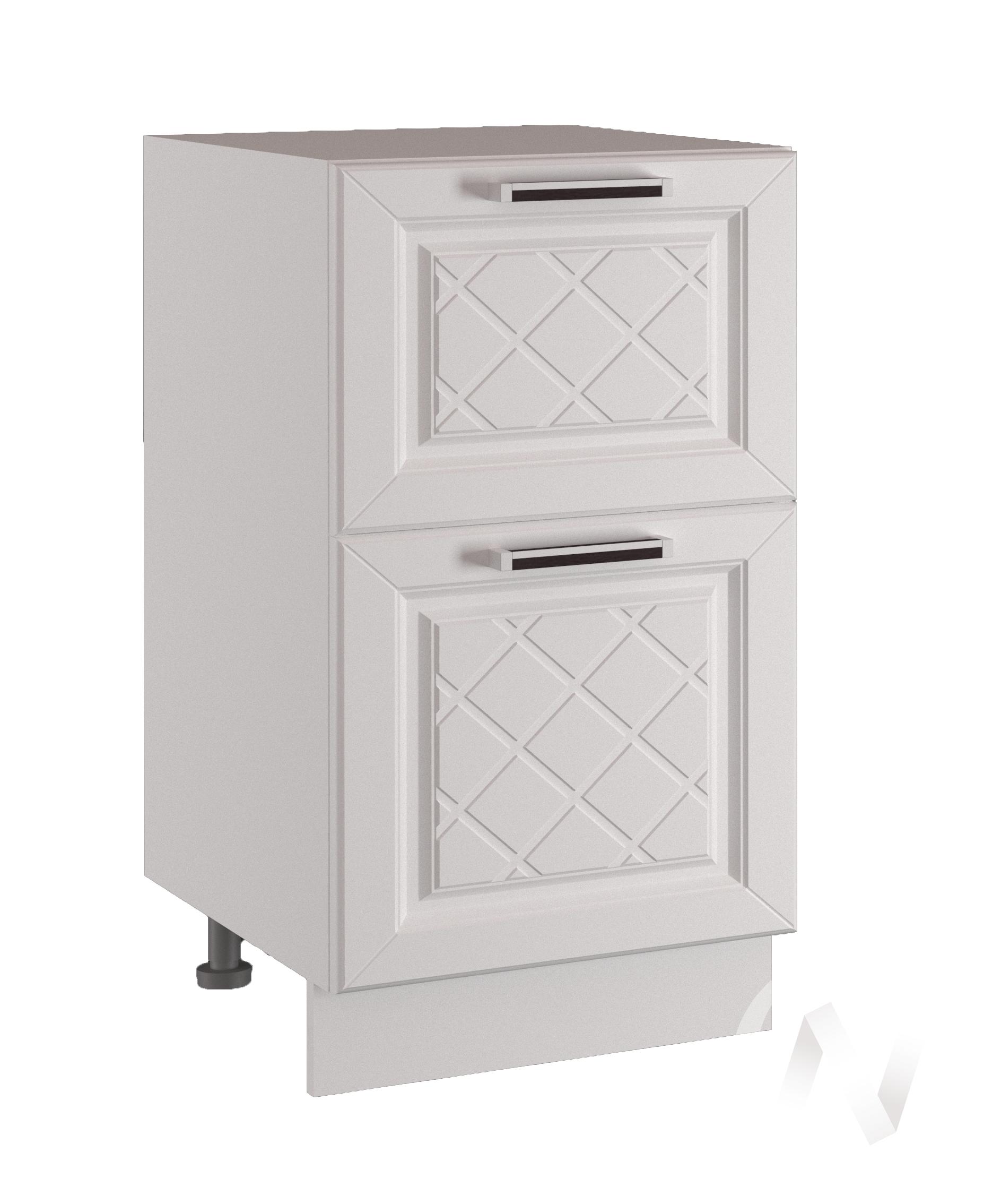 "Кухня ""Вена"": Шкаф нижний с 2-мя ящиками 600, ШН2Я 600 (корпус белый)"