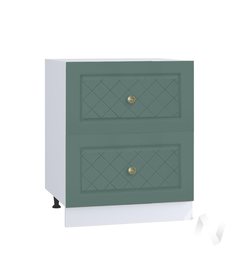 """Кухня """"Селена"""": Шкаф нижний с 2-мя ящиками 600, ШН2Я 600 (Дуб бирюзовый/корпус белый)"""