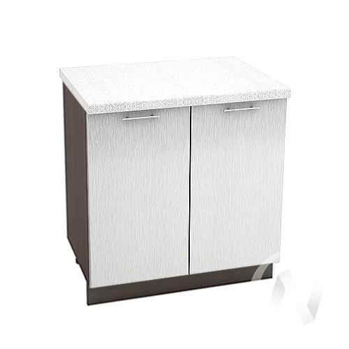 """(1)Кухня """"Валерия-М"""": Шкаф нижний 800, ШН 800 (дождь черный/корпус венге)"""