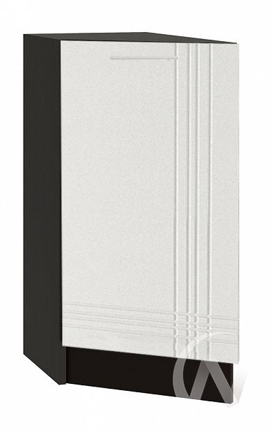 """Кухня """"Струна"""": Шкаф нижний торцевой 300, ШНТ 300 (белый металлик/корпус венге)"""
