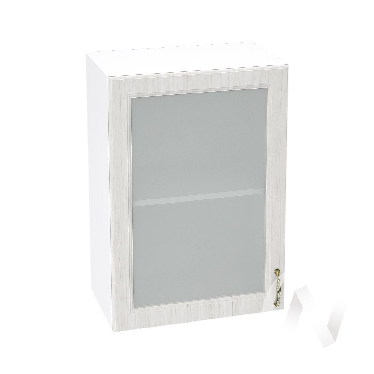 """Кухня """"Виктория"""": Шкаф верхний со стеклом 500, ШВС 500 (корпус белый)"""