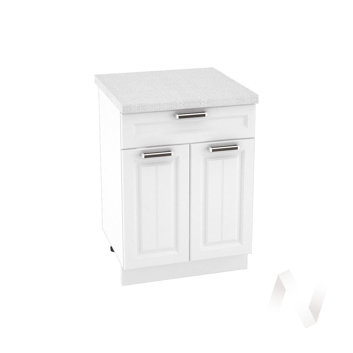 """Кухня """"Прага"""": Шкаф нижний с ящиком 600, ШН1Я 600 М (белое дерево/корпус белый)"""