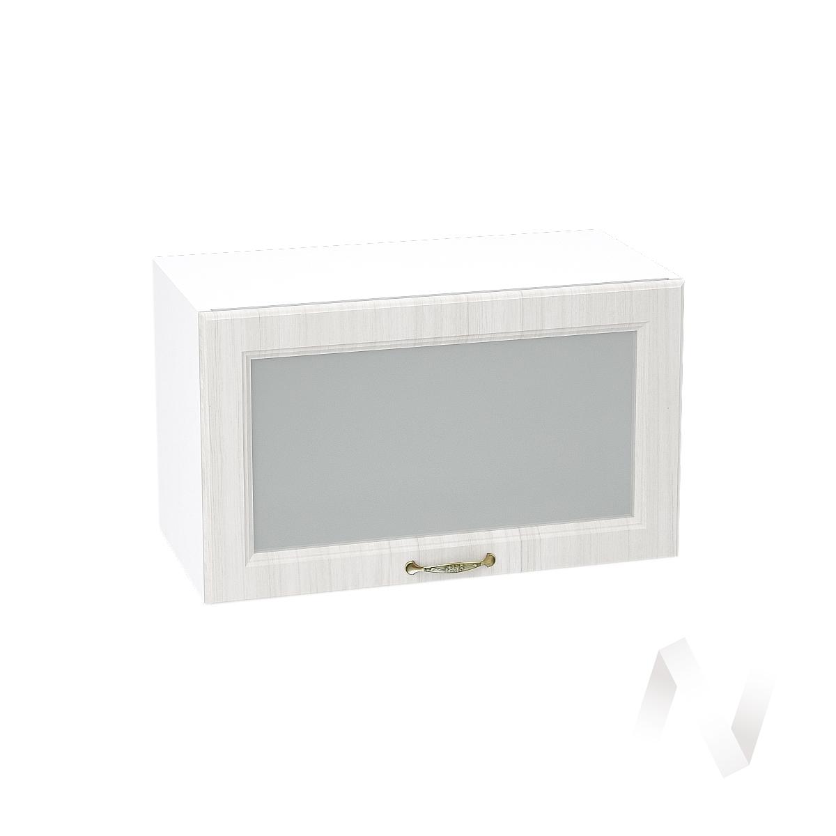 """Кухня """"Виктория"""": Шкаф верхний горизонтальный со стеклом 600, ШВГС 600 (корпус белый)"""
