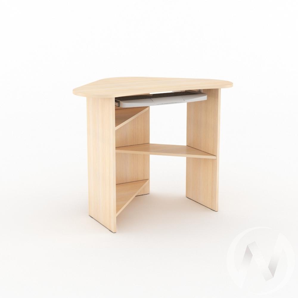 Компьютерный стол КС 800 угловой (дуб молочный)  в Томске — интернет магазин МИРА-мебель