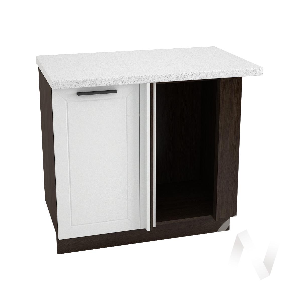 """Кухня """"Глетчер"""": Шкаф нижний угловой 990М, ШНУ 990М (Айленд Силк/корпус венге)"""