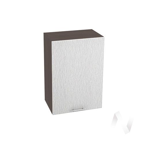 """Кухня """"Валерия-М"""": Шкаф верхний 500, ШВ 500 (дождь серый/корпус венге)"""