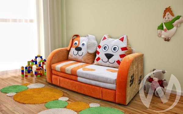 Кот и пес диван детский