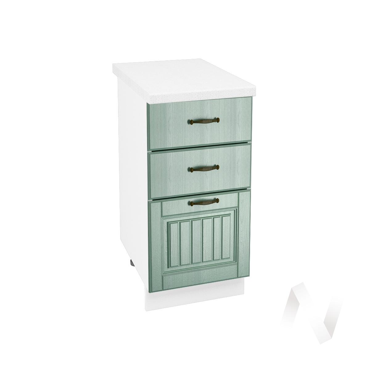 """Кухня """"Прованс"""": Шкаф нижний с 3-мя ящиками 400, ШН3Я 400 (корпус белый)"""