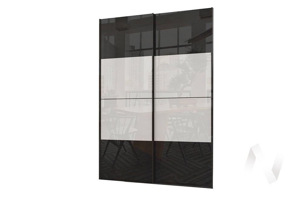 Комплект фасадов 1832 СТЛ.299.42 Марвин-3 (Дуб феррара глянец/Белый глянец)