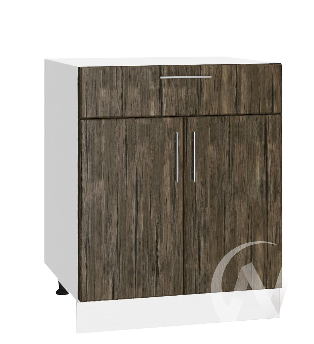 """Кухня """"Норден"""": Шкаф нижний с ящиком 600, ШН1Я 600 М (старое дерево/корпус белый)"""