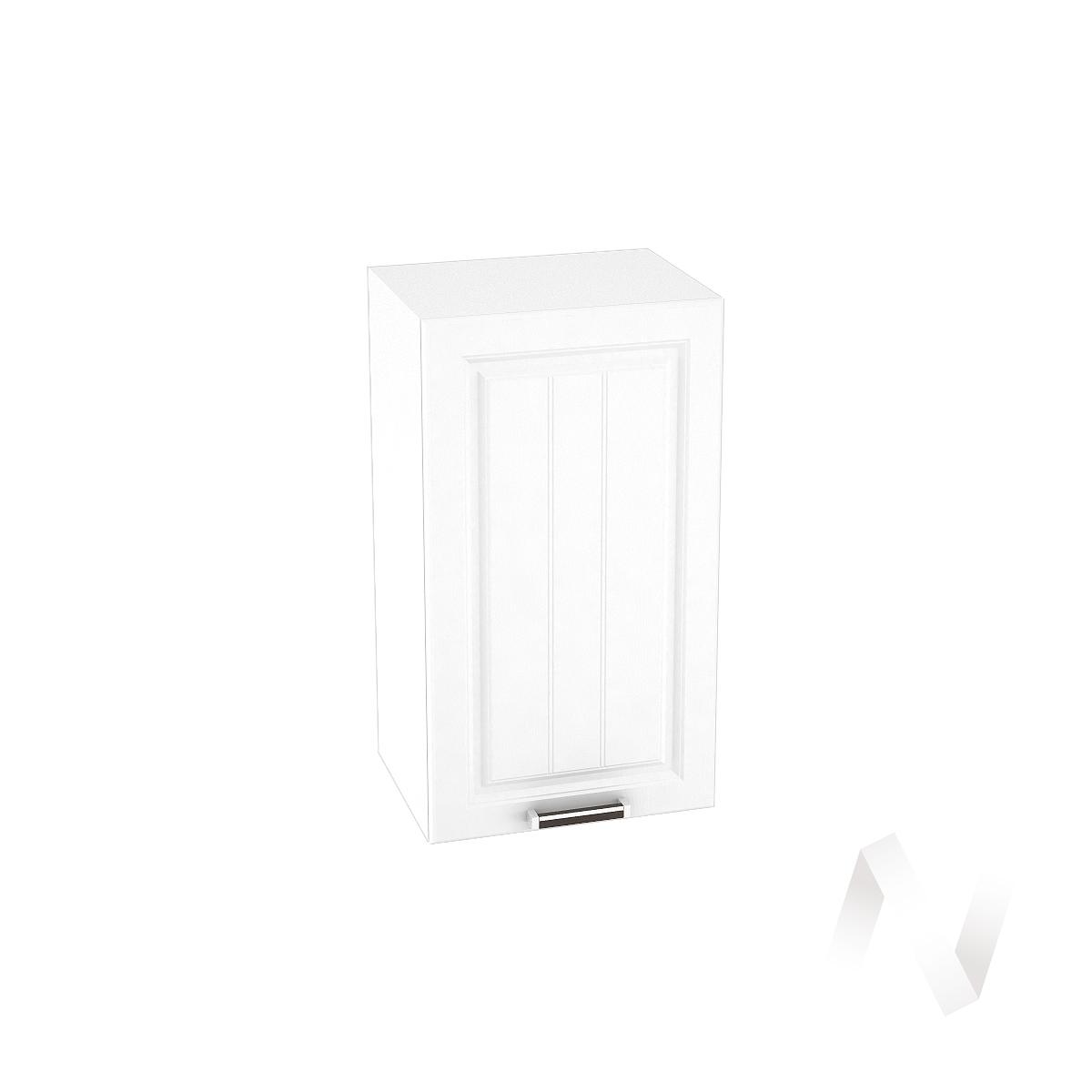 """Кухня """"Прага"""": Шкаф верхний 400, ШВ 400 (белое дерево/корпус белый)"""
