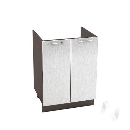 "Кухня ""Валерия-М"": Шкаф нижний под мойку 600, ШНМ 600 (дождь серый/корпус венге)"