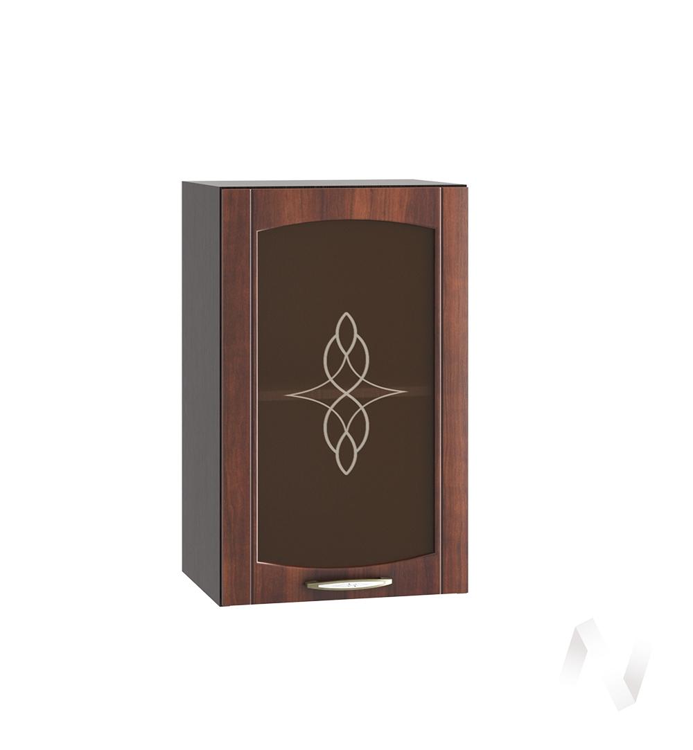 """Кухня """"Неаполь"""": Шкаф верхний со стеклом 400, ШВС 400 (Италия/корпус венге)"""