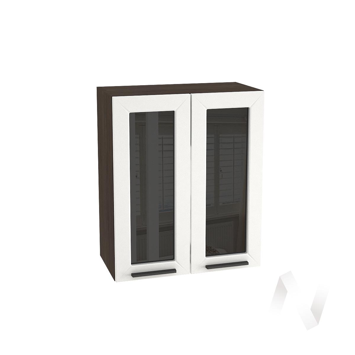 """Кухня """"Глетчер"""": Шкаф верхний со стеклом 600, ШВС 600 (Айленд Силк/корпус венге)"""