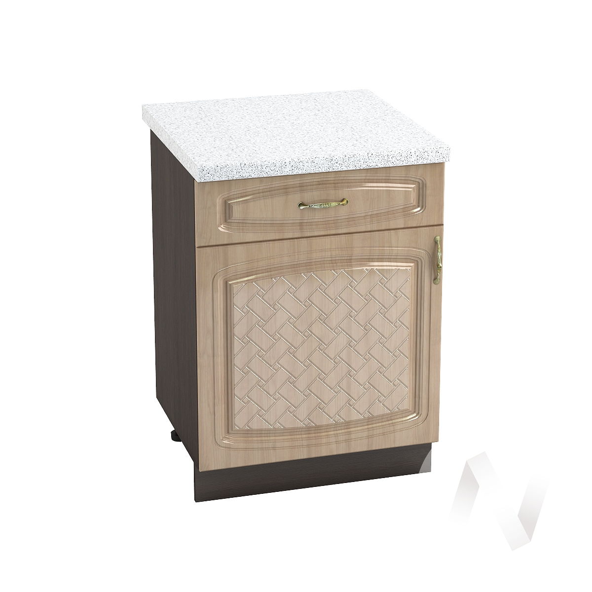 "Кухня ""Сити"": Шкаф нижний с ящиком 600, ШН1Я 600 М (корпус венге)"