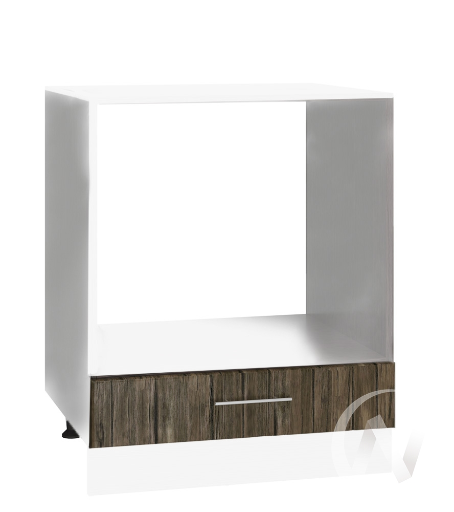 "Кухня ""Норден"": Шкаф нижний под духовку 600, ШНД 600 (старое дерево/корпус белый)"
