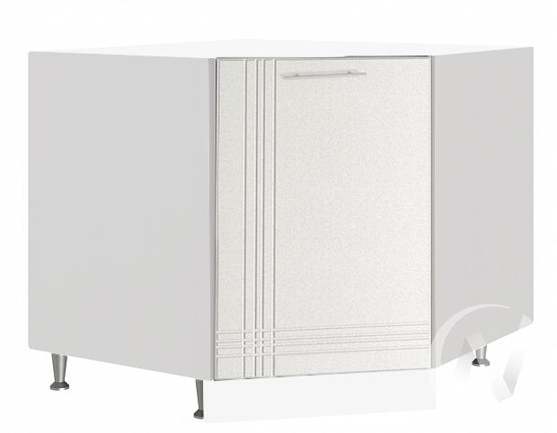 """Кухня """"Струна"""": Шкаф нижний угловой 890, ШНУ 890 (белый металлик/корпус белый)"""
