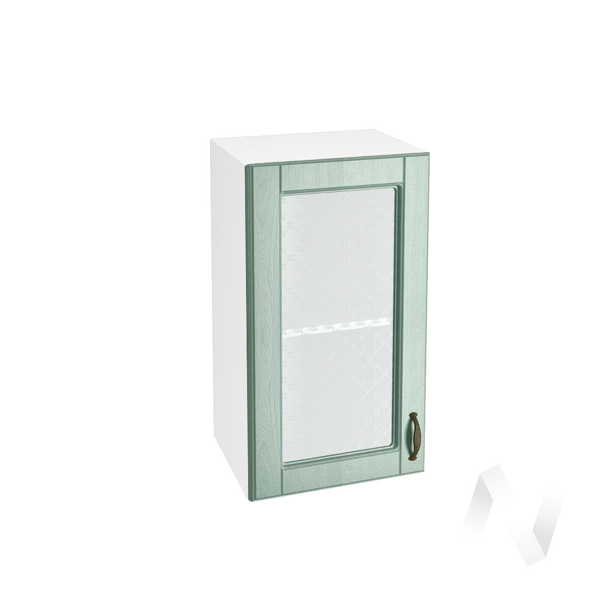 "Кухня ""Прованс"": Шкаф верхний со стеклом 400, ШВС 400 (корпус белый)"