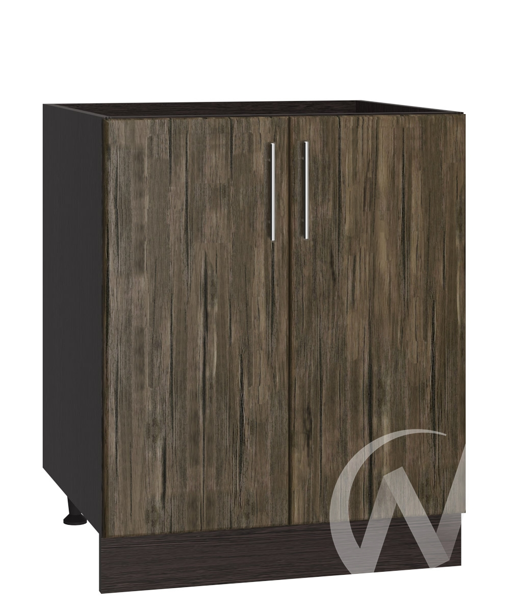 "Кухня ""Норден"": Шкаф нижний под мойку 600, ШНМ 600 (старое дерево/корпус венге)"