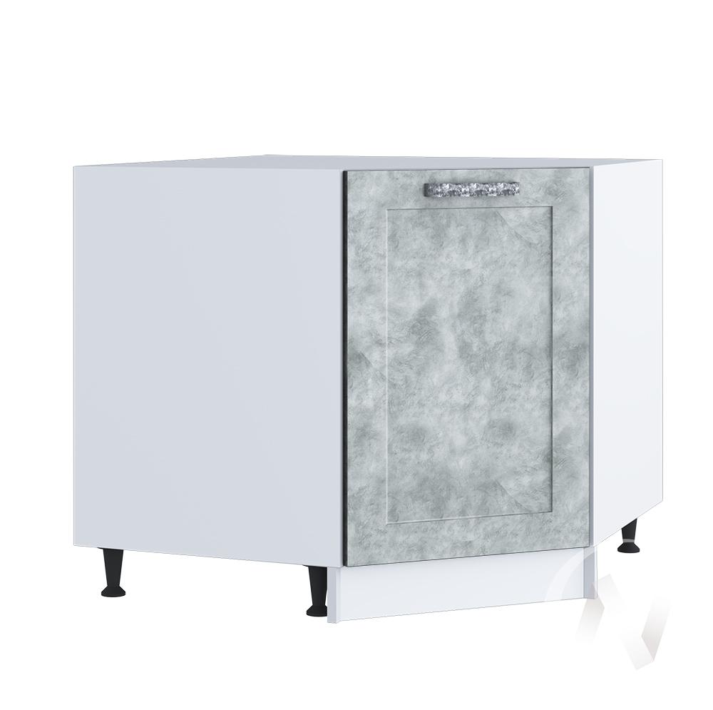 """Кухня """"Лофт"""": Шкаф нижний угловой 890, ШНУ 890 (Бетон серый/корпус белый)"""