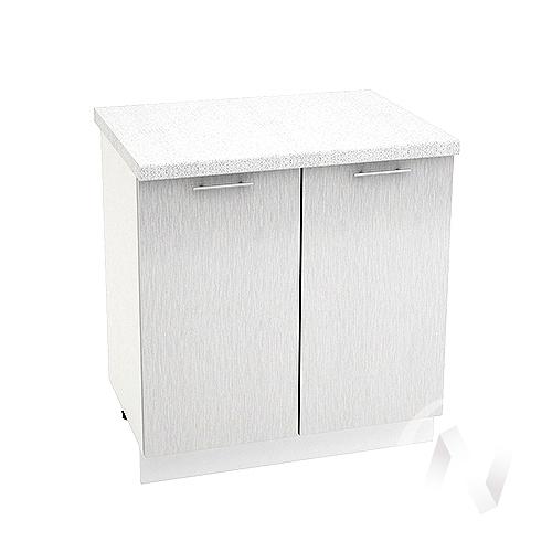 """Кухня """"Валерия-М"""": Шкаф нижний 800, ШН 800 (дождь серый/корпус белый)"""