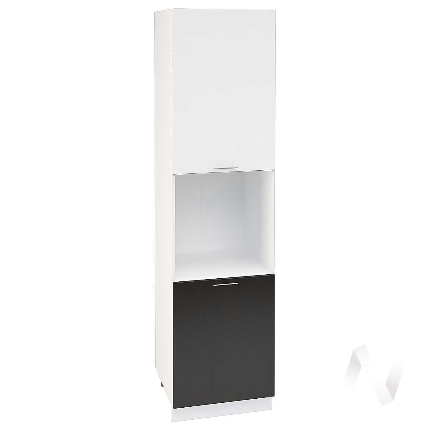 "Кухня ""Валерия-М"": Шкаф пенал 600Н, ШП 600Н (белый глянец/венге/корпус белый)"