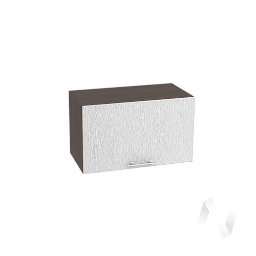 """Кухня """"Валерия-М"""": Шкаф верхний горизонтальный 600, ШВГ 600 (дождь серый/корпус венге)"""