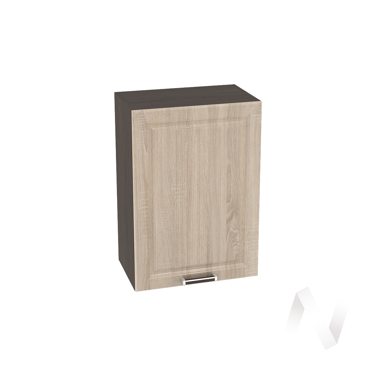 "Кухня ""Прага"": Шкаф верхний 500, ШВ 500 (дуб сонома/корпус венге)"