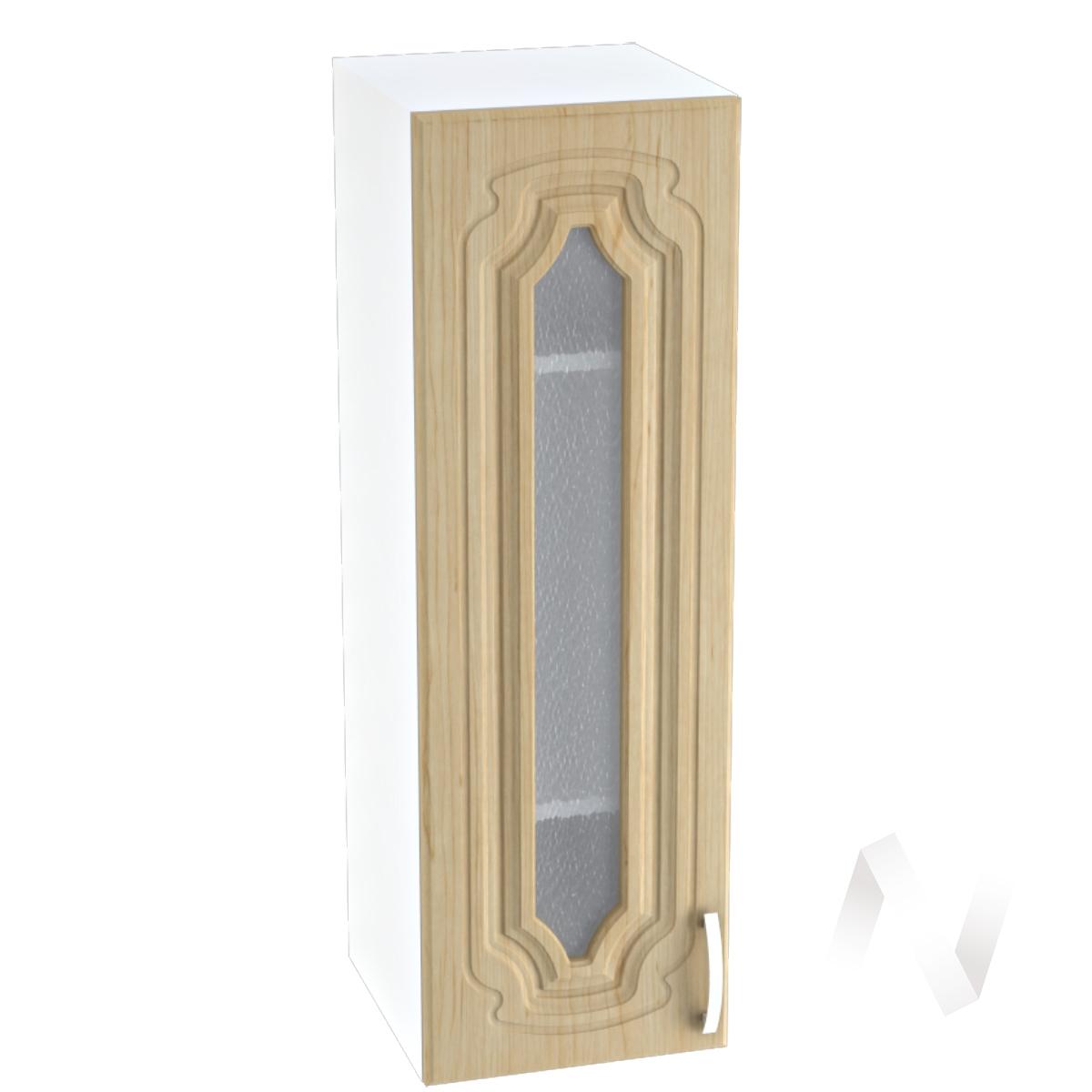 """Кухня """"Настя"""": Шкаф верхний со стеклом 309, ШВС 309 (Береза/корпус белый)"""