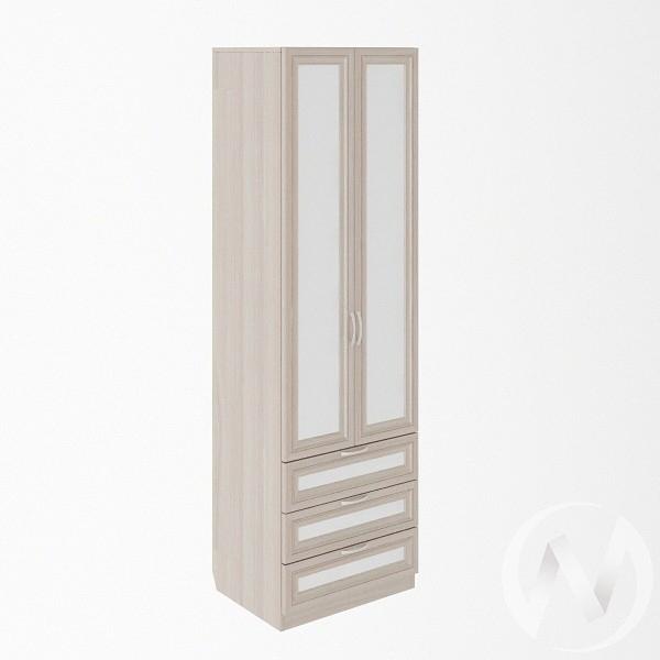 Шкаф с ящиками 600 М4 Остин (ясень шимо светлый/белый)