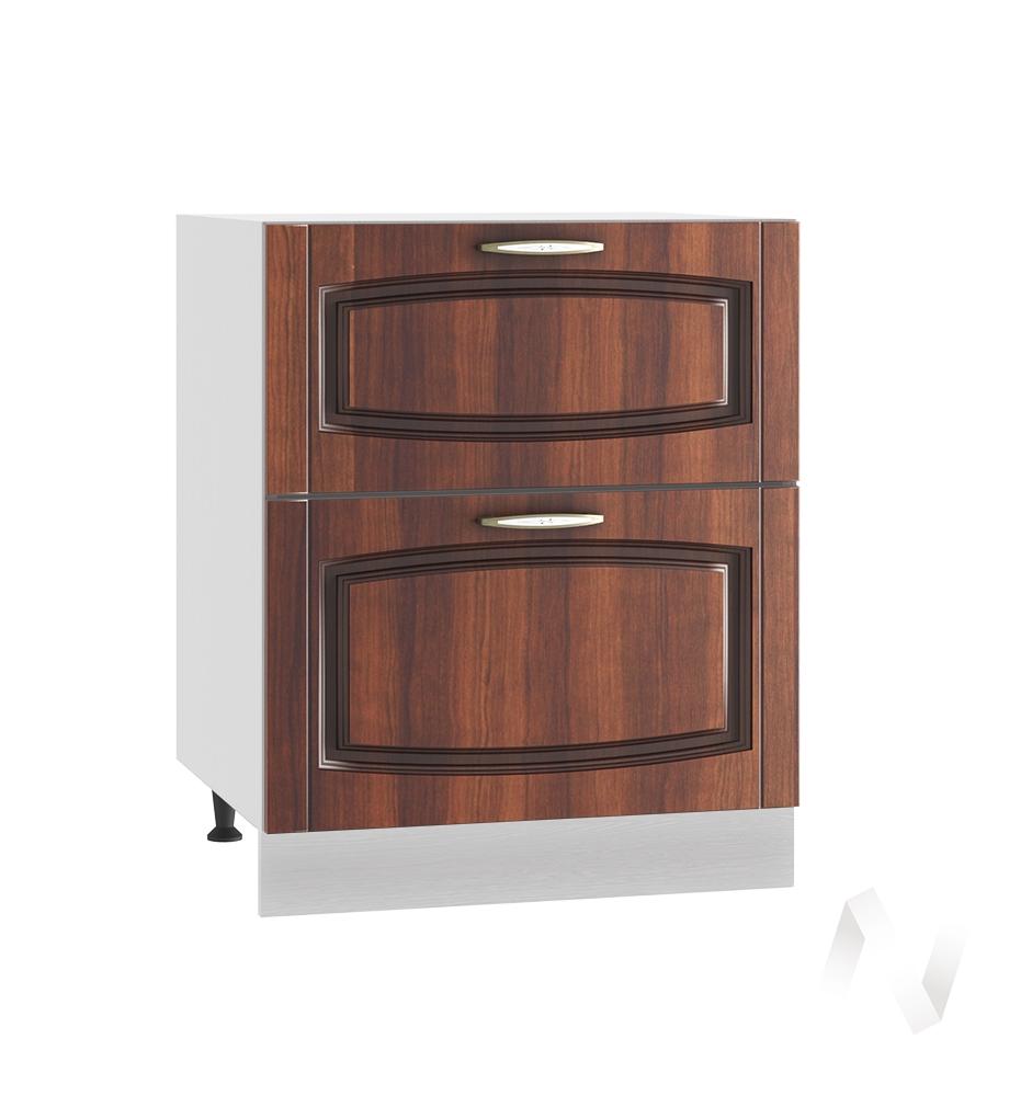 """Кухня """"Неаполь"""": Шкаф нижний с 2-мя ящиками 600, ШН2Я 600 (Италия/корпус белый)"""