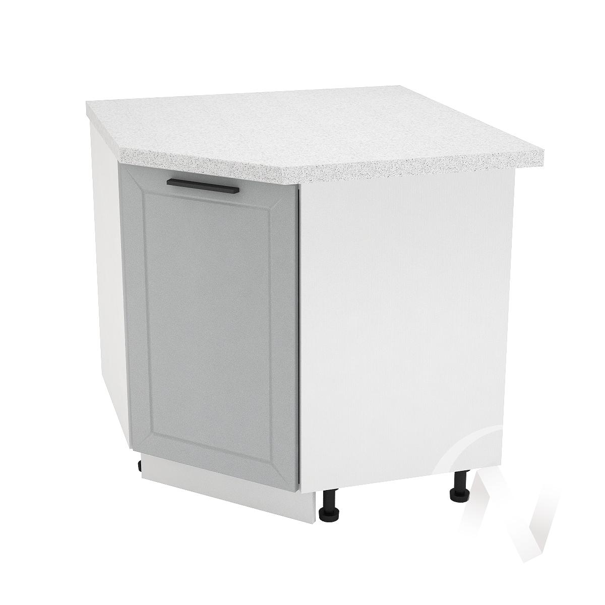 """Кухня """"Глетчер"""": Шкаф нижний угловой 890, ШНУ 890 (Гейнсборо Силк/корпус белый)"""