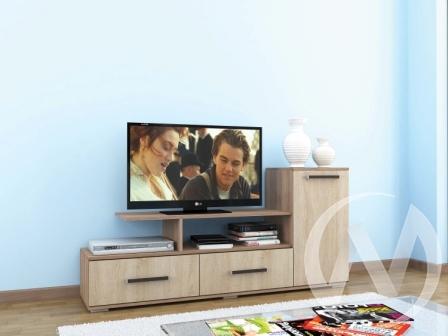 Тумба TV Парус-1 (ясень шимо/дуб сонома)  в Томске — интернет магазин МИРА-мебель