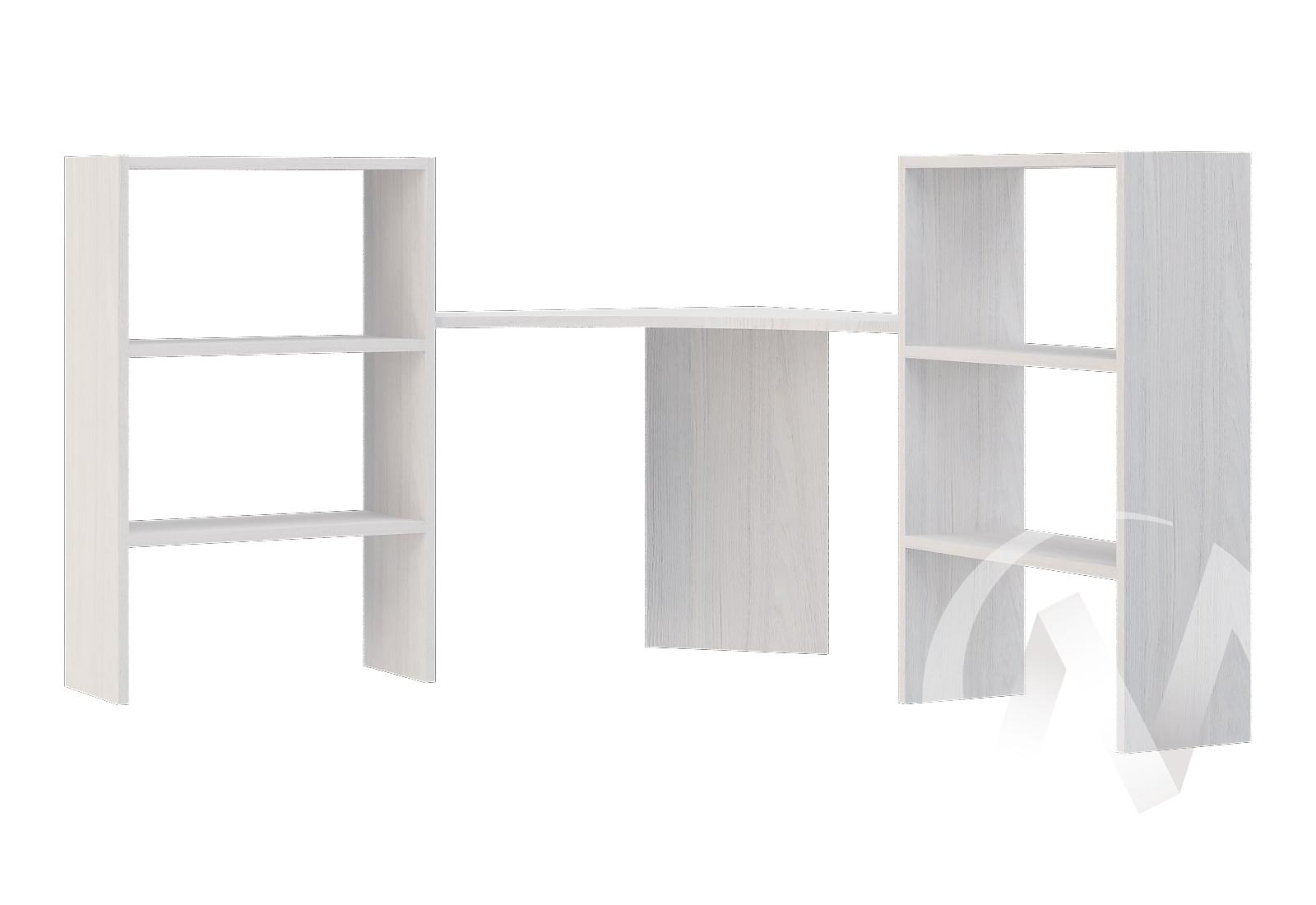Надставка на угловой стол ПЛ-722 МС Прага (ясень анкор/белое дерево)  в Томске — интернет магазин МИРА-мебель