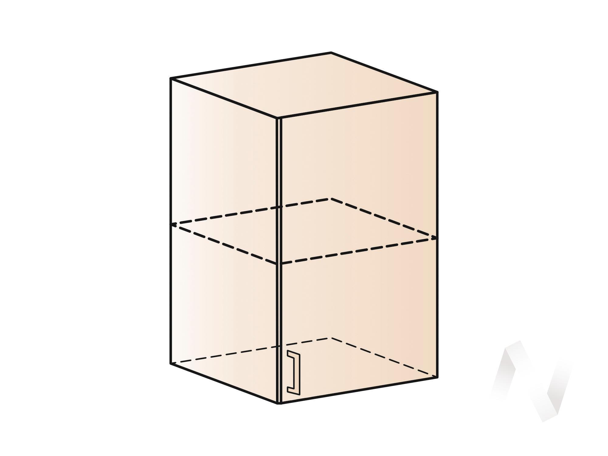 """Кухня """"Люкс"""": Шкаф верхний 500, ШВ 500 (Шелк жемчуг/корпус венге) в Томске — авторская мебель Экостиль"""