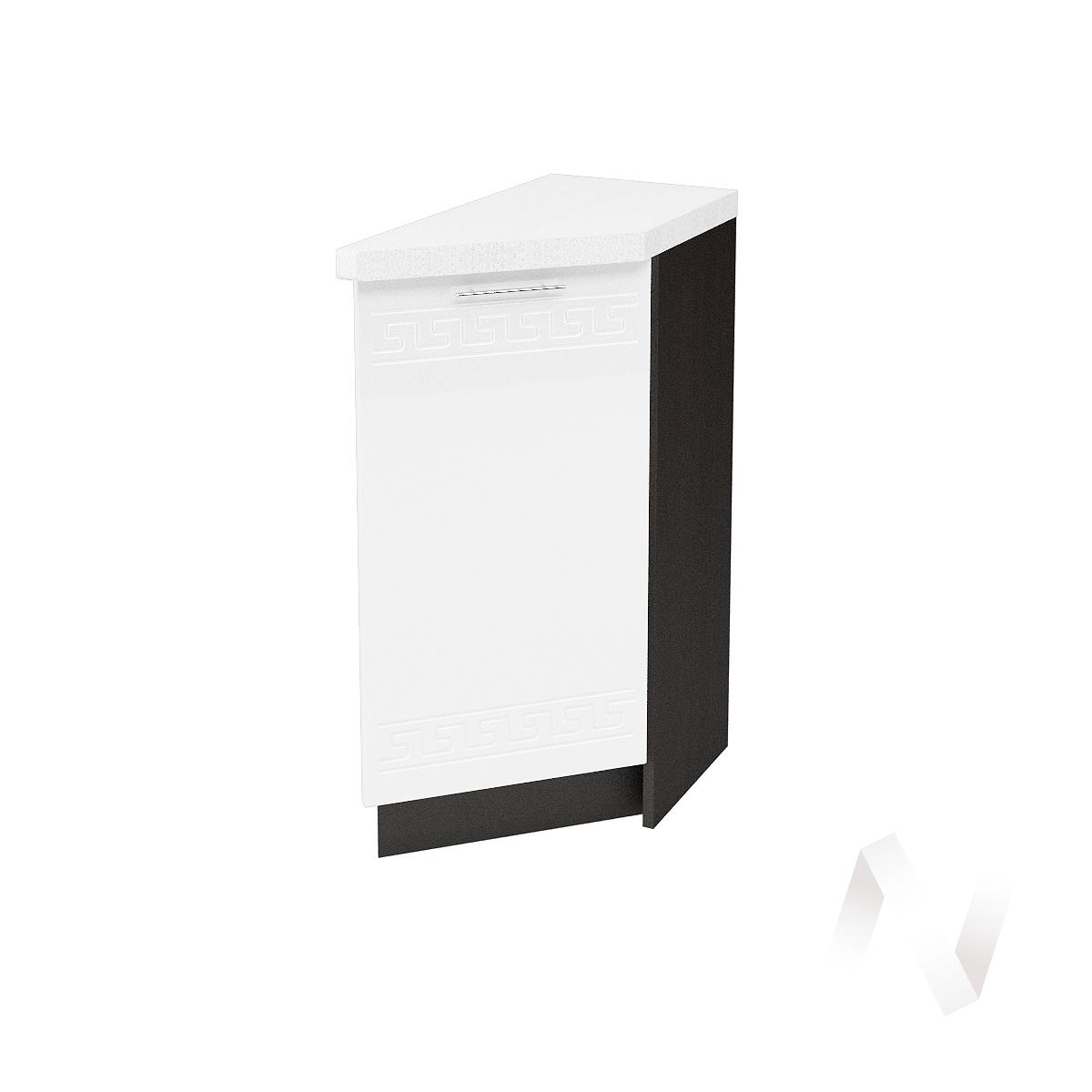 """Кухня """"Греция"""": Шкаф нижний торцевой 300, ШНТ 300 (белый металлик/корпус венге)"""